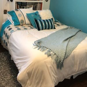 Other - Turquoise Queen Duvet Cover (6pcs) SPARKLING CLEAN